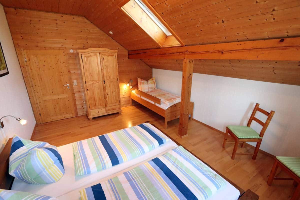 Ferienwohnung Schneeflocke Dreibettzimmer