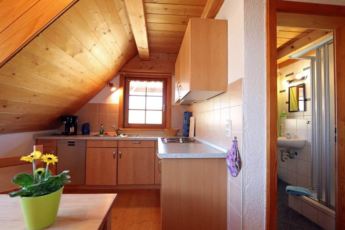 Küche Ferienwohnung Schwalbennest