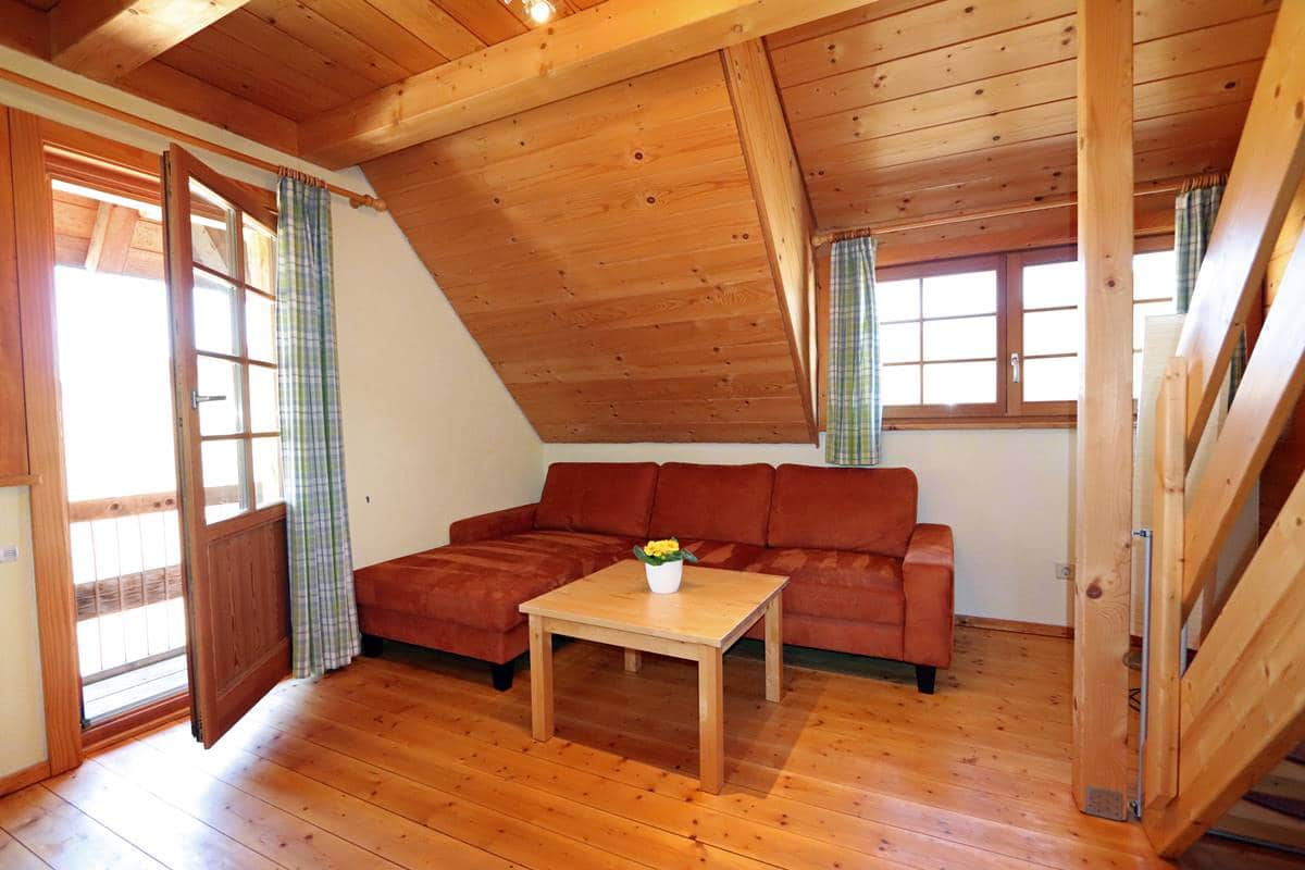 Wohnzimmer Ferienwohnung Schwalbennest