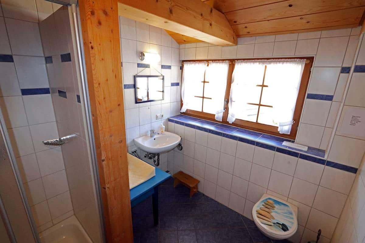 Dusche und WC Sternschnuppe
