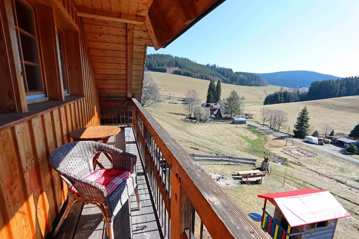 Balkon Ferienwohnung Sternschnuppe