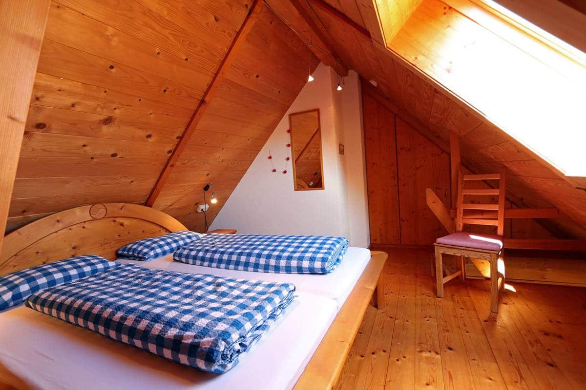 Elternschlafzimmer unterm Dach